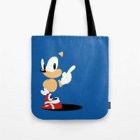 Minimal Sonic Tote Bag