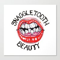 Snaggletooth Beauty Canvas Print