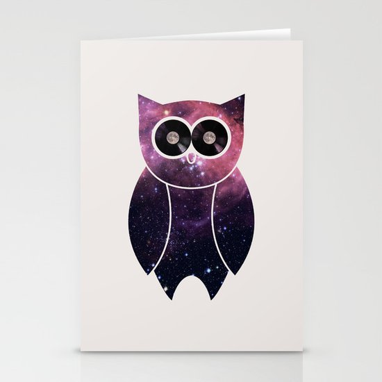 Owl Night Long Stationery Card