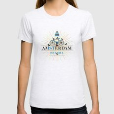 amsterdam & istanbul Womens Fitted Tee Ash Grey SMALL