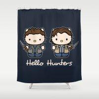 Hello Hunters Shower Curtain