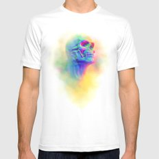 SKULL CANDY White Mens Fitted Tee SMALL