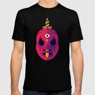LUCHADOR COSMICO Mens Fitted Tee Black SMALL