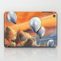 Balloons in the Sunset iPad Case