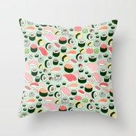 Sushi Love Throw Pillow