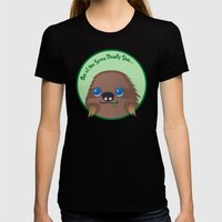 Adorable Sloth Womens Fitted Tee Black SMALL
