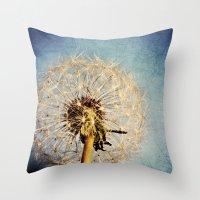 Dandelion Texture Throw Pillow