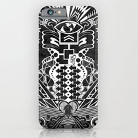 iPhone & iPod Case featuring Insane Black & White by UvinArt