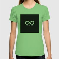 Infineaty #02 Womens Fitted Tee Grass SMALL