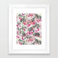 Rainbow Fuchsia Floral P… Framed Art Print