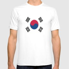 Flag of south korea Mens Fitted Tee White SMALL