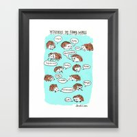 Hedgehogs Say Funny Thin… Framed Art Print