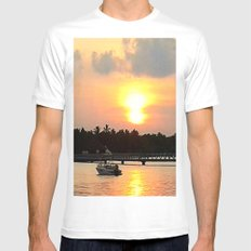 Maldives - Afterglow Mens Fitted Tee White SMALL