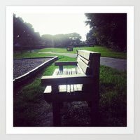 A Bench In The Park Art Print