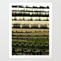 Tissue - Golden Art Print