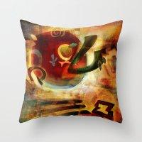 Elements VI - Radiate Throw Pillow