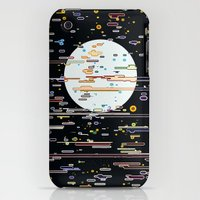 iPhone Cases featuring White planet in space demesne by Serhii Bilyk