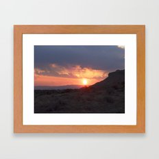 April Sunset Framed Art Print