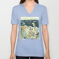Cycling in the Deep Unisex V-Neck