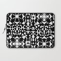 Black and White Square 2 Laptop Sleeve