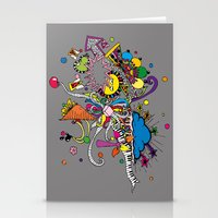 Colored Doodle Stationery Cards
