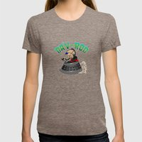 Dav-Rod Womens Fitted Tee Tri-Coffee SMALL