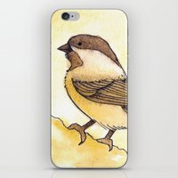 Yellow Black-capped Chic… iPhone & iPod Skin