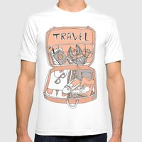 Travel Mens Fitted Tee White SMALL