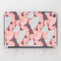 Spotted Fan & Trailing Hair // Pink & Blue Pastels iPad Case
