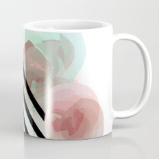 Watercolor Floral with Stripes Mug