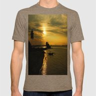 MAGNIFICENT VIEW Mens Fitted Tee Tri-Coffee SMALL