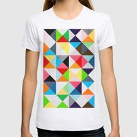 Geometric Morning Womens Fitted Tee Ash Grey SMALL