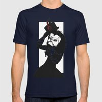 Courting The Crimson Que… Mens Fitted Tee Navy SMALL