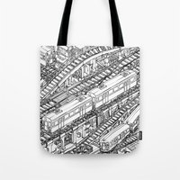 The Town of Train 3 Tote Bag