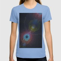 Abstract 3D Art Womens Fitted Tee Athletic Blue SMALL