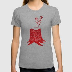 Roots Of Resilience Womens Fitted Tee Tri-Grey SMALL