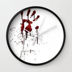 Zombie Attack Bloodprint - Halloween Wall Clock