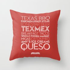 Austin — Delicious City Prints Throw Pillow