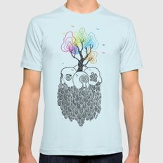 Tree Of Life Mens Fitted Tee Light Blue SMALL