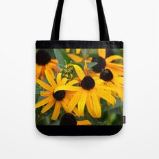 Golden Flowers Tote Bag