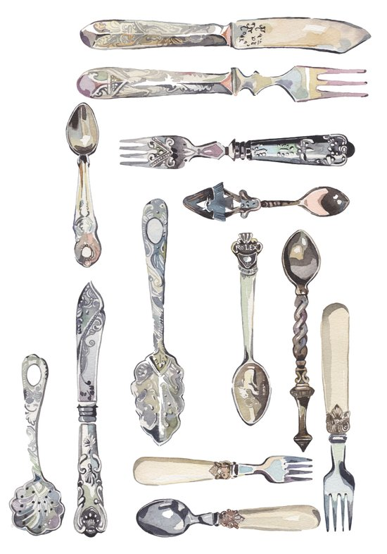 Cutlery Collection Art Print