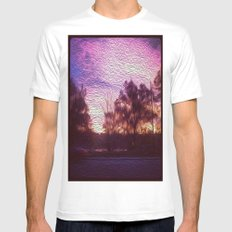 Pink Sunrise Mens Fitted Tee SMALL White