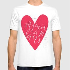 Virginia is for Lovers Mens Fitted Tee White SMALL