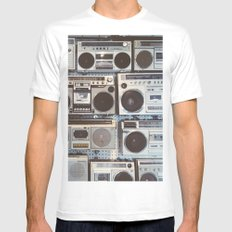 Boom boxes Mens Fitted Tee White SMALL
