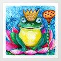 Frog Prince Art Print