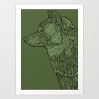 Enthusiastic Wolf Art Print