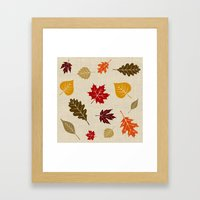 When The Leaves Fall Framed Art Print