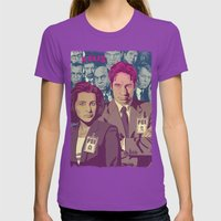 THE X-FILES v2 Womens Fitted Tee Ultraviolet SMALL