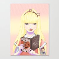 Girls Read Comics Too, T… Canvas Print
