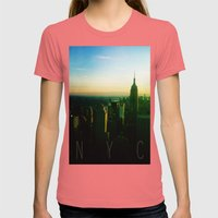 NYC Womens Fitted Tee Pomegranate SMALL